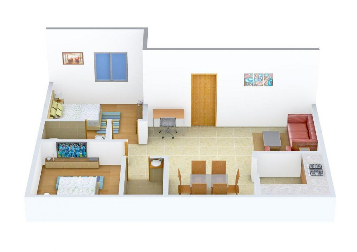 Floor Plan Image of 900 - 1365 Sq.ft 2 BHK Apartment for buy in Acacia Akashmalli