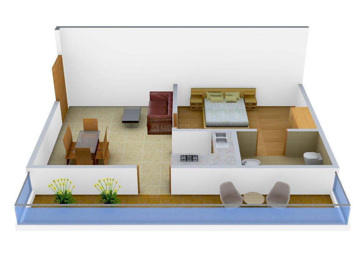 Floor Plan Image of 0 - 900.0 Sq.ft 1 BHK Apartment for buy in Integriti Aldeia Miraflor