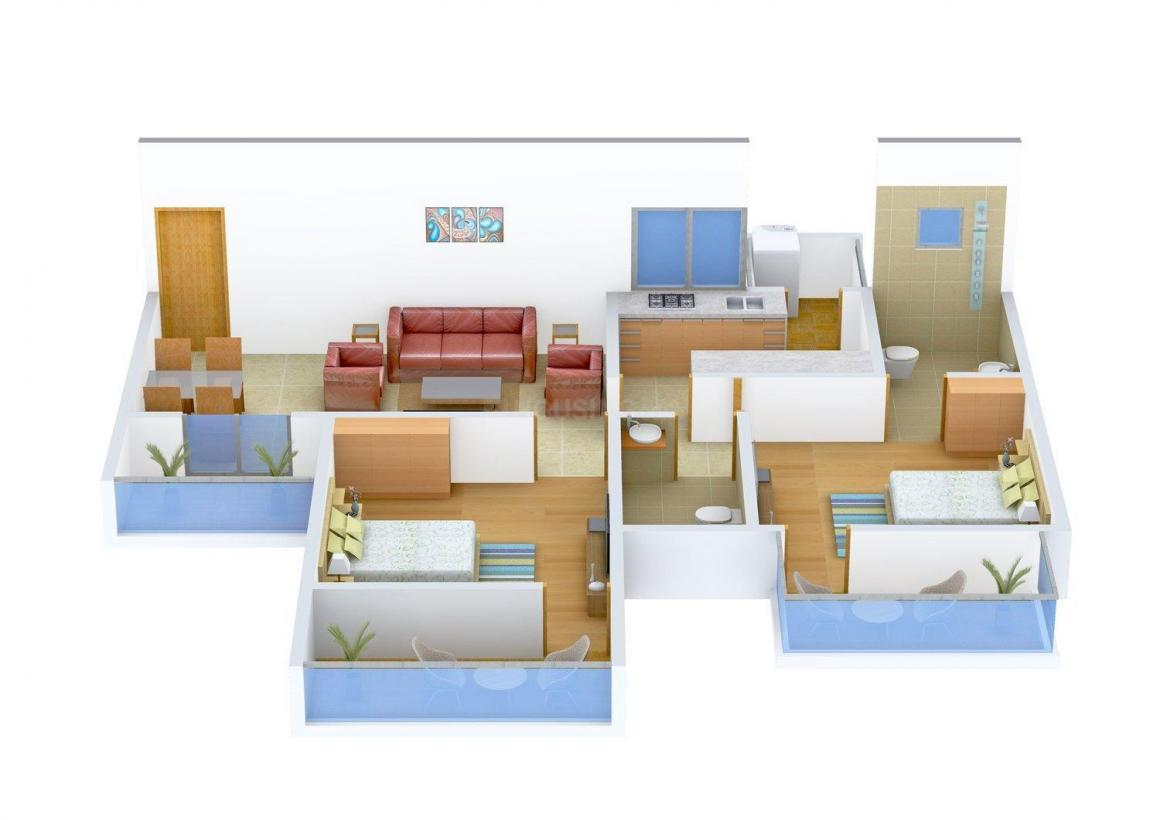 Floor Plan Image of 0 - 1044.0 Sq.ft 2 BHK Apartment for buy in Cityscape The Mist