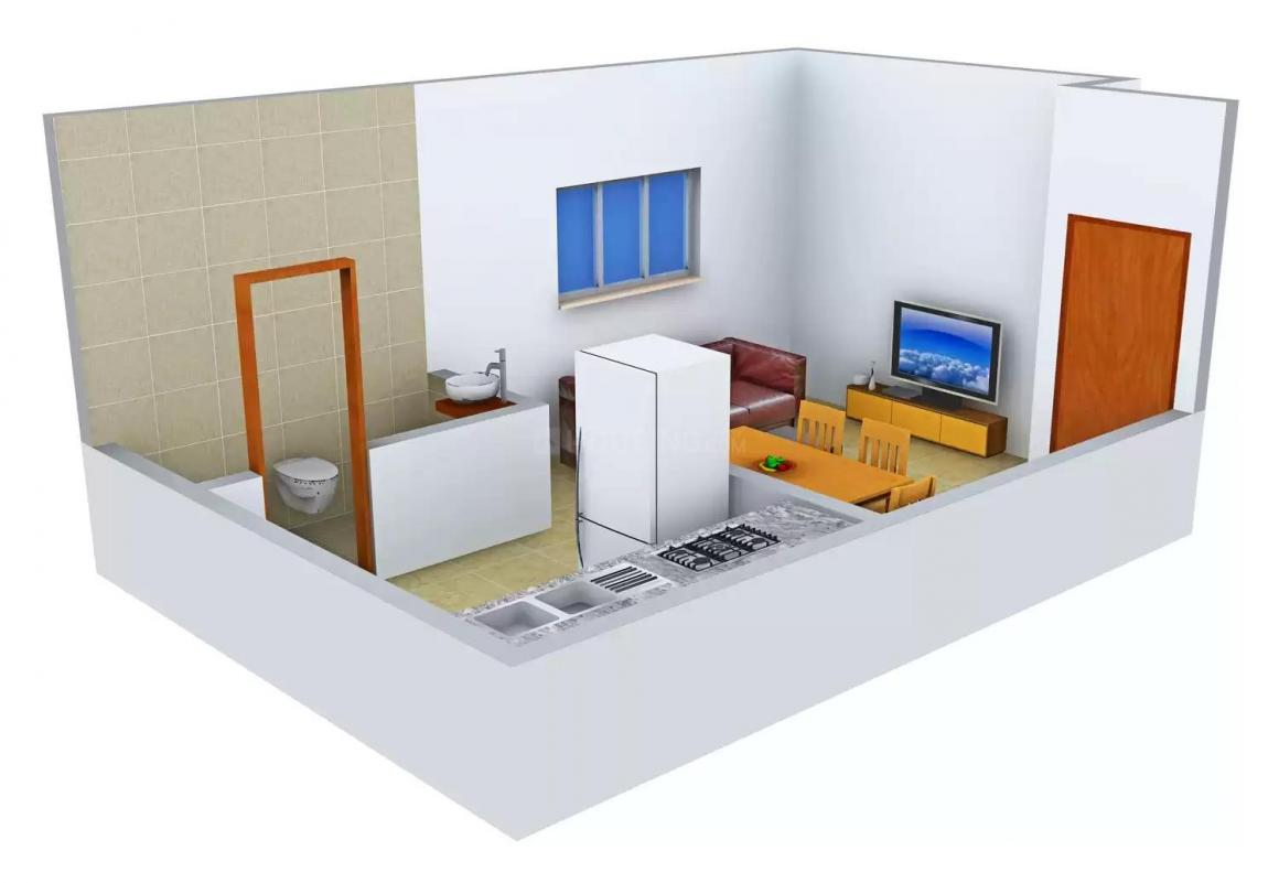 Shree Sai Heritage Floor Plan: 1 BHK Unit with Built up area of 340 sq.ft 1