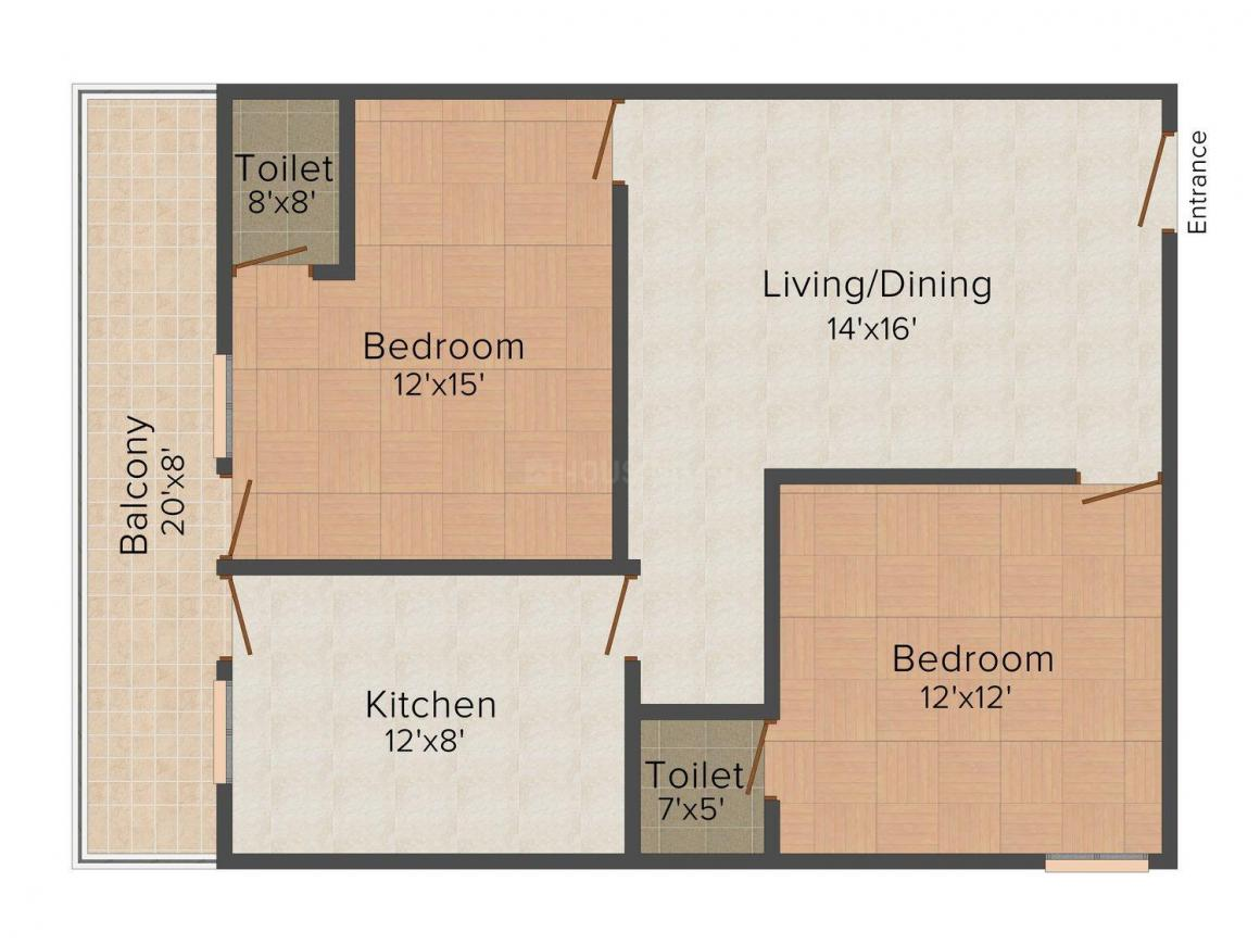 Floor Plan Image of 550.0 - 1350.0 Sq.ft 1 BHK Apartment for buy in Ashi Comfort Residency