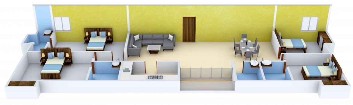 Vedic Duplex Natura Floor Plan: 4 BHK Unit with Built up area of 2124 sq.ft 1