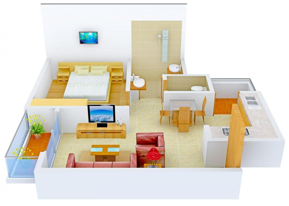 Floor Plan Image of 0 - 705.0 Sq.ft 1 BHK Apartment for buy in Naina Amora Homes