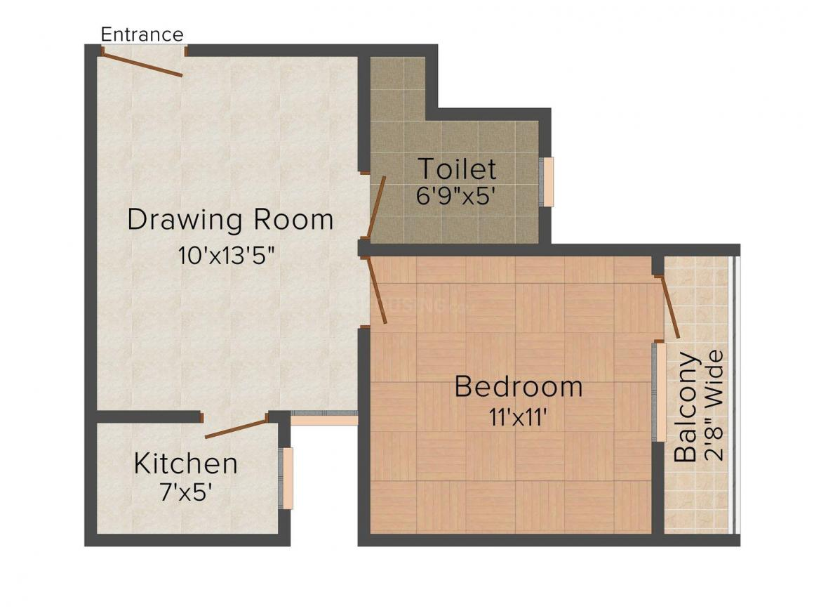 Floor Plan Image of 0 - 495 Sq.ft 1 BHK Independent Floor for buy in Suman Homes - 2