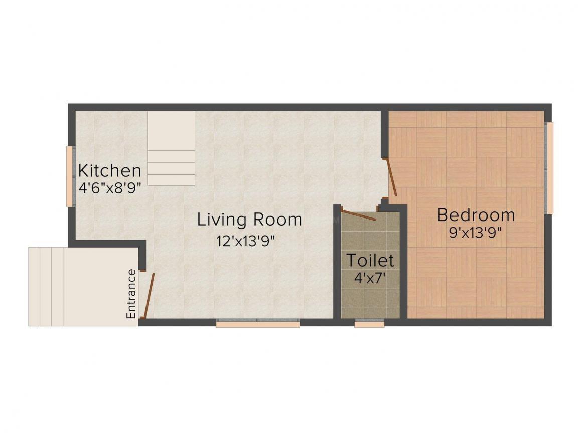 Floor Plan Image of 1650 - 3000 Sq.ft 3 BHK Bungalow for buy in Aqua Blue