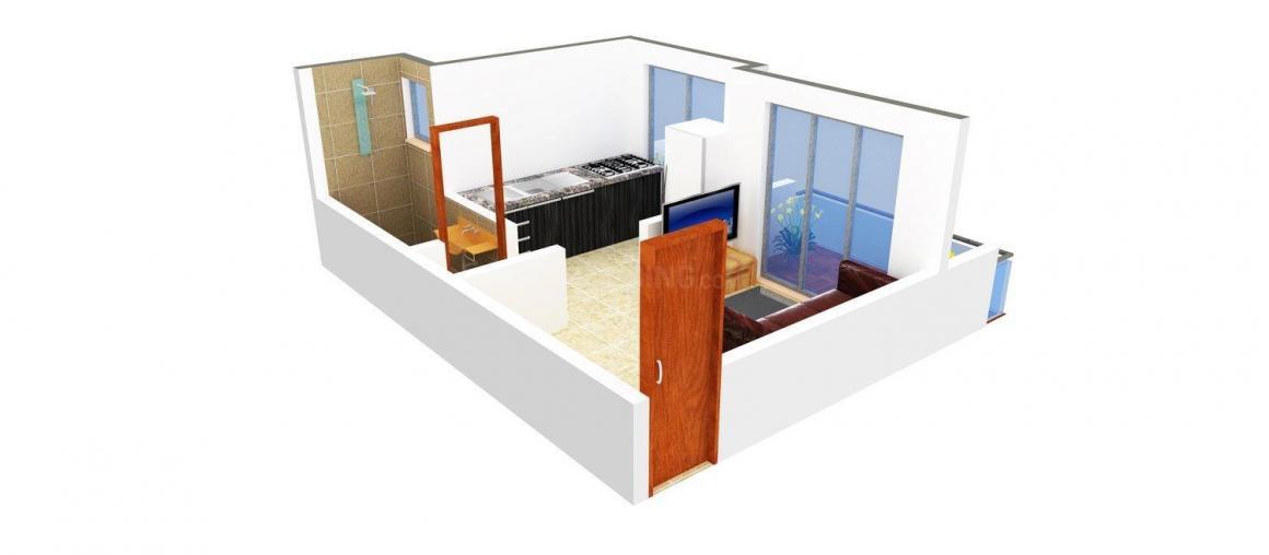 Floor Plan Image of 390 - 420 Sq.ft 1 RK Apartment for buy in Laxmi Priya Arcade