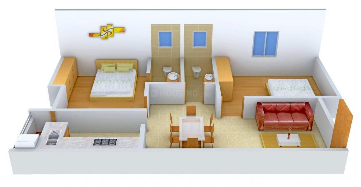 Floor Plan Image of 885 - 1047 Sq.ft 2 BHK Apartment for buy in Dream Padmavathy