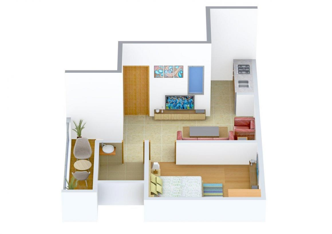 Floor Plan Image of 0 - 425 Sq.ft 1 BHK Apartment for buy in Chugh Home - 2