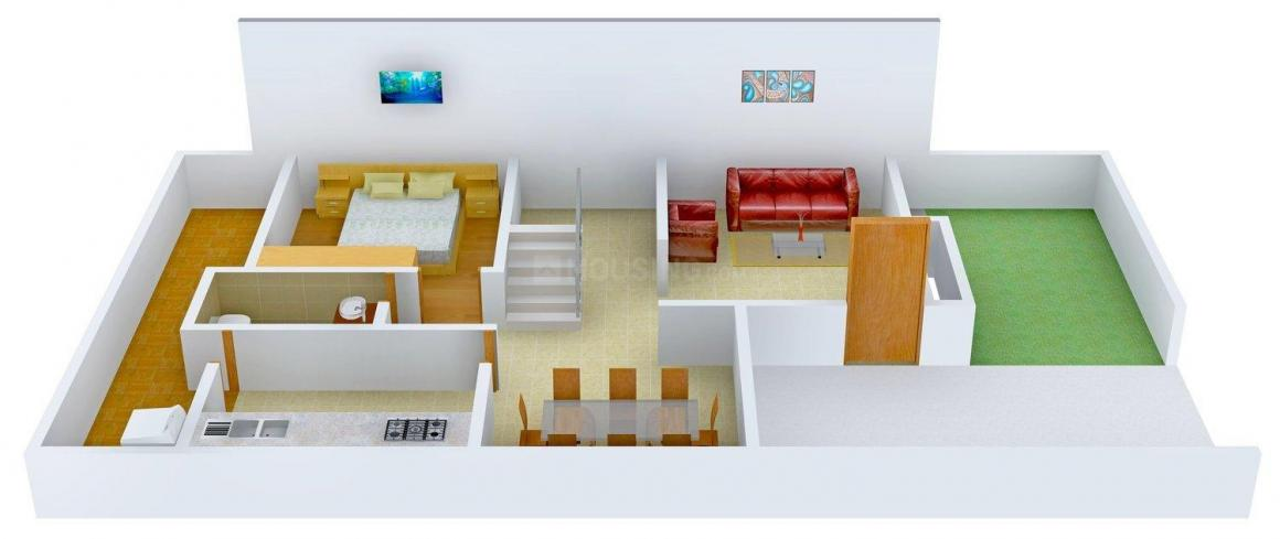 Floor Plan Image of 0 - 1050 Sq.ft 3 BHK Duplex for buy in Real Homes
