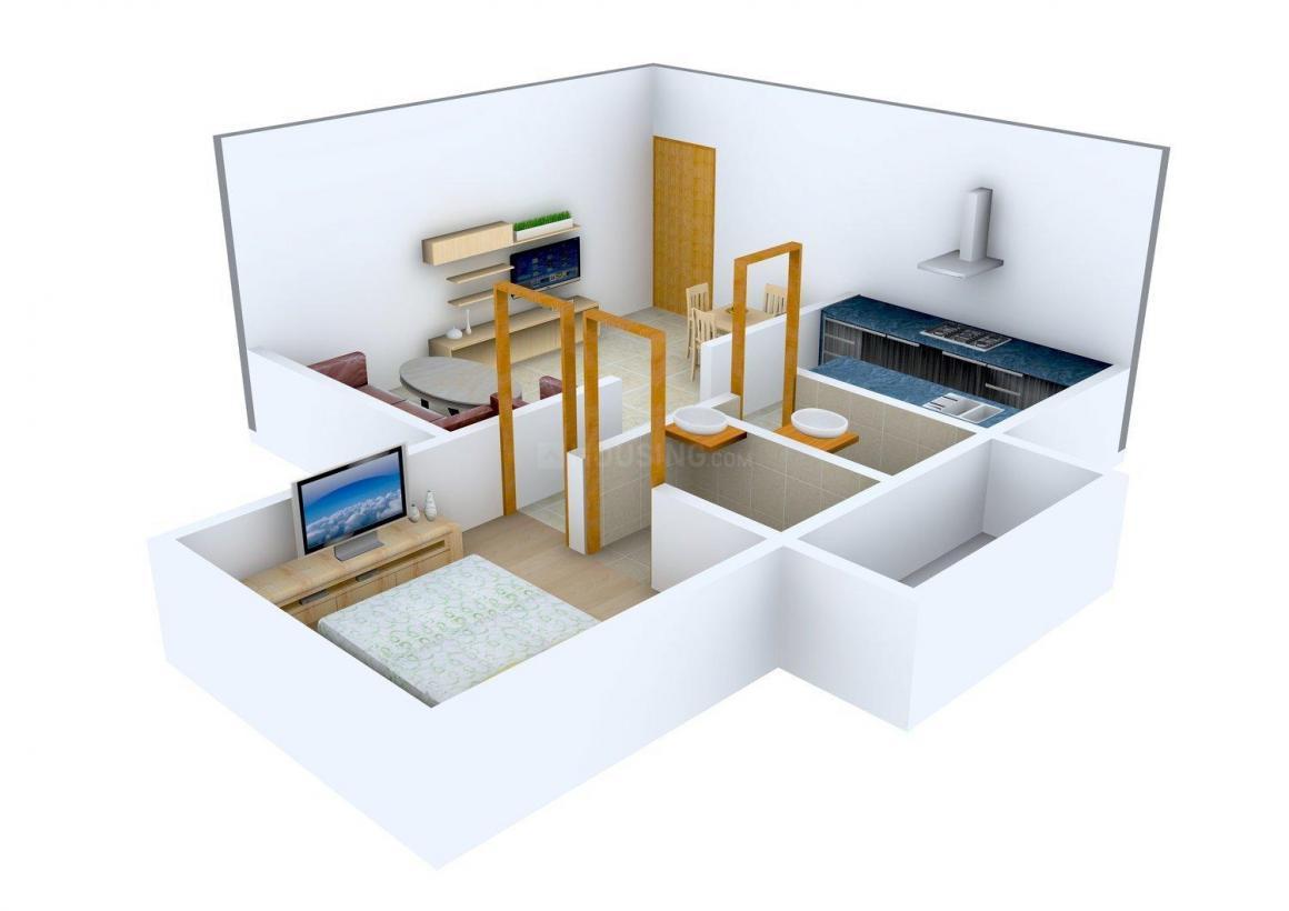 Floor Plan Image of 450.0 - 1525.0 Sq.ft 1 BHK Apartment for buy in Kamla Aquina