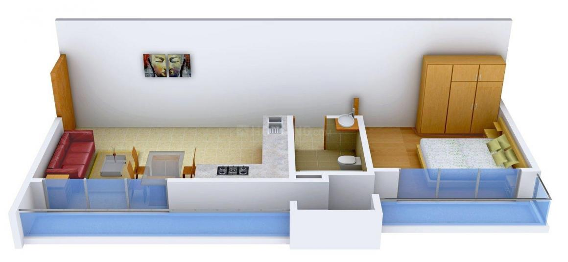 Floor Plan Image of 0 - 415 Sq.ft 1 BHK Apartment for buy in Nirvana Alive