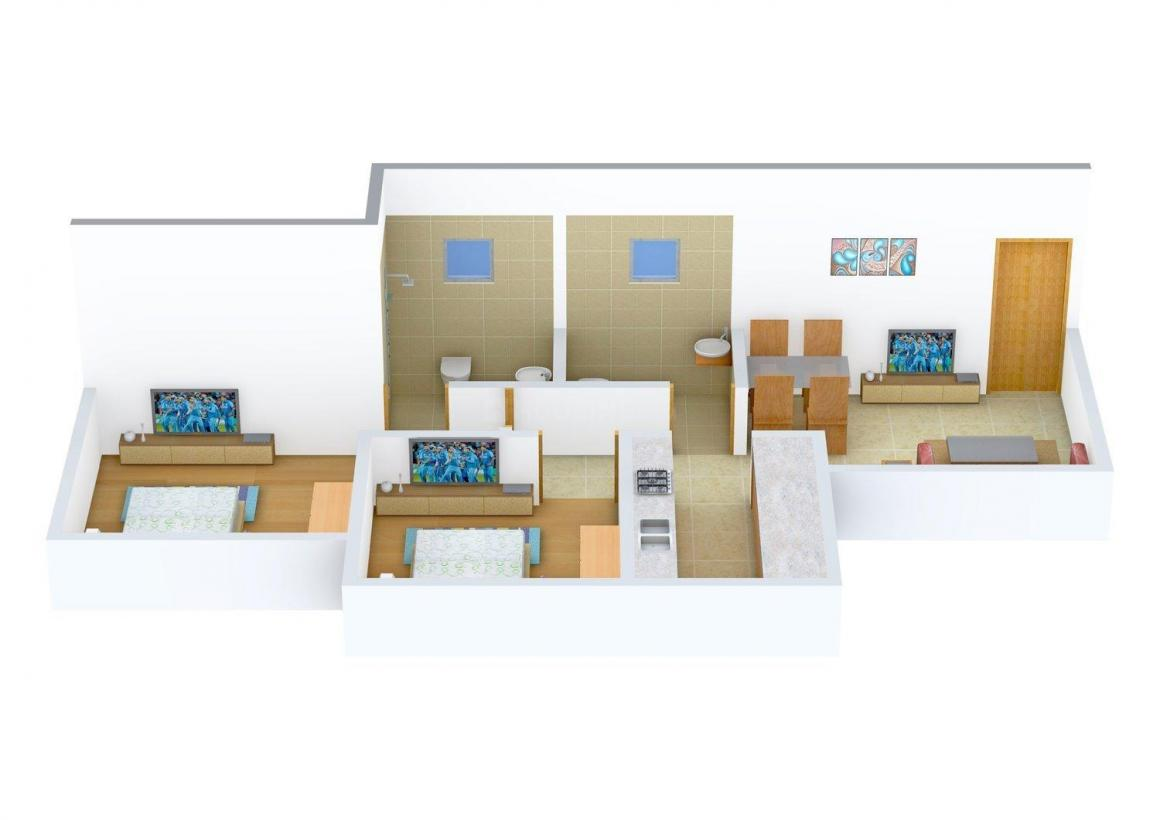 Floor Plan Image of 675 - 1305 Sq.ft 1 BHK Apartment for buy in Heena Gokul Valley