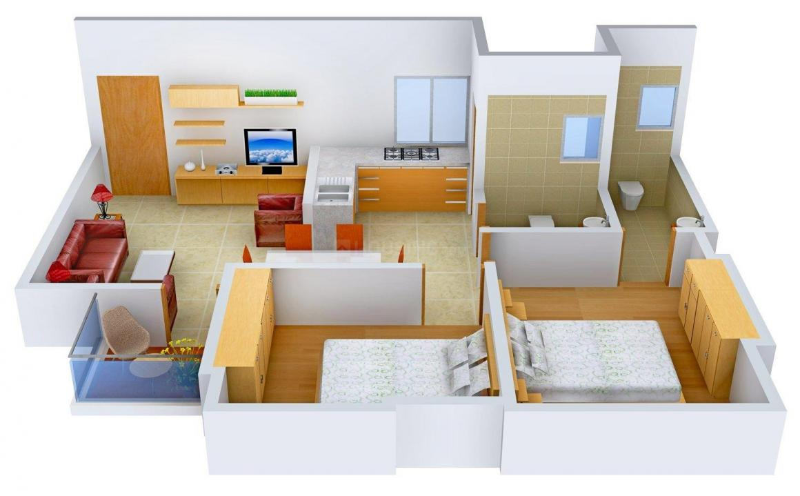 Floor Plan Image of 0 - 1025 Sq.ft 2 BHK Apartment for buy in Ria Diya Style Home