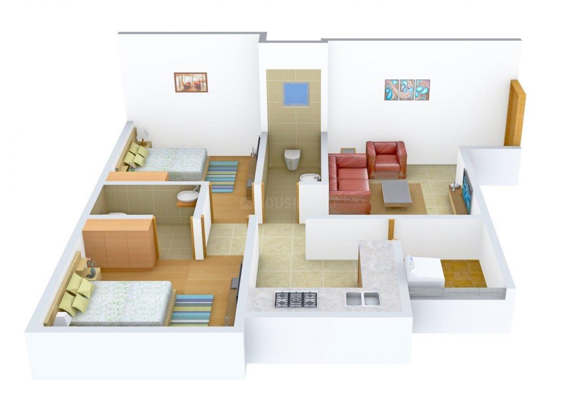 Floor Plan Image of 0 - 740.0 Sq.ft 2 BHK Apartment for buy in Rakholiya Tulsi Apartment