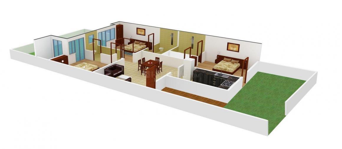 Floor Plan Image of 0 - 1766 Sq.ft 3 BHK Independent Floor for buy in Supreme Floors V7 - 05