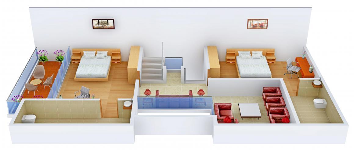 Savaliya Krish Atulya Floor Plan: 4 BHK Unit with Built up area of 3024 sq.ft 2