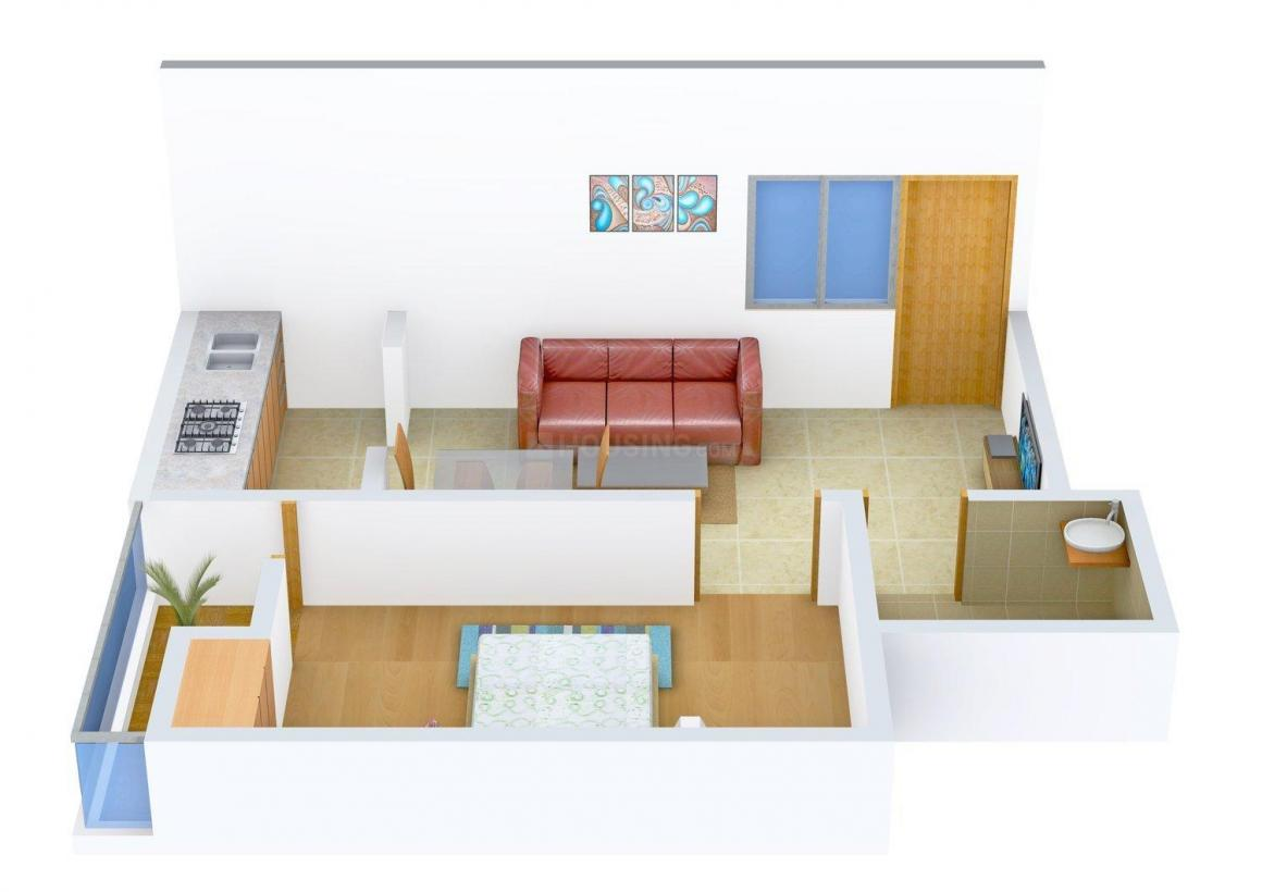 Floor Plan Image of 0 - 650.0 Sq.ft 1 BHK Independent Floor for buy in Dixit Phase Surajpur