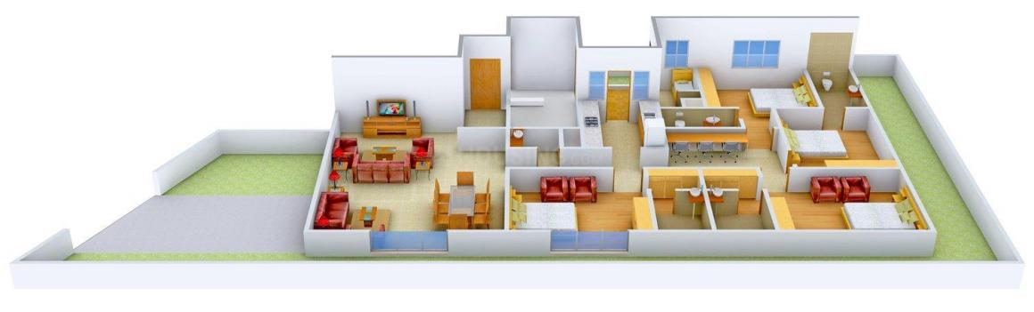 Redifice Private Residencies - Maddox Edge Floor Plan: 4 BHK Unit with Built up area of 3551 sq.ft 1