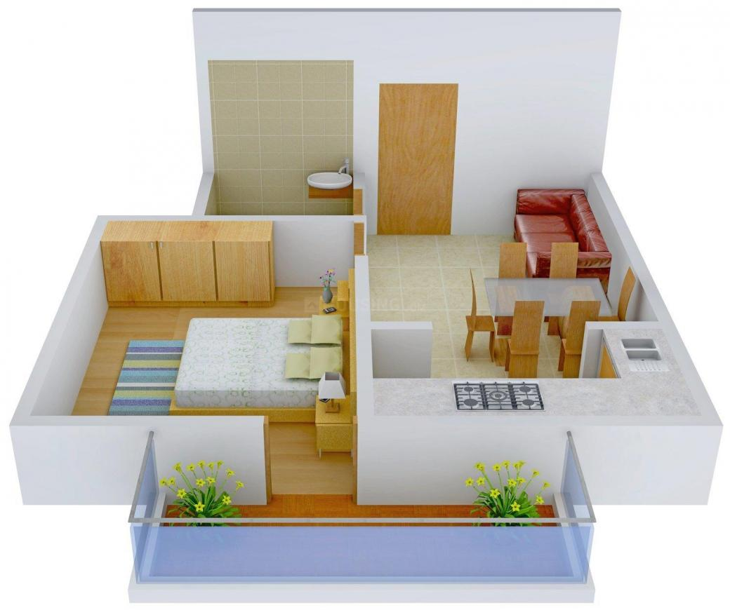Floor Plan Image of 450.0 - 1200.0 Sq.ft 1 BHK Apartment for buy in SLV Homes