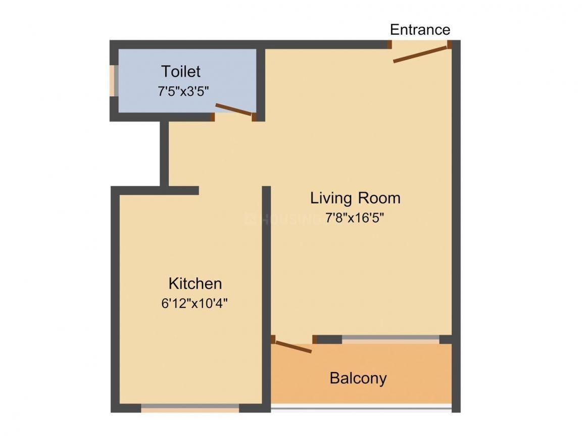 Floor Plan Image of 395.0 - 780.0 Sq.ft 1 RK Apartment for buy in Manik Rudra Residency