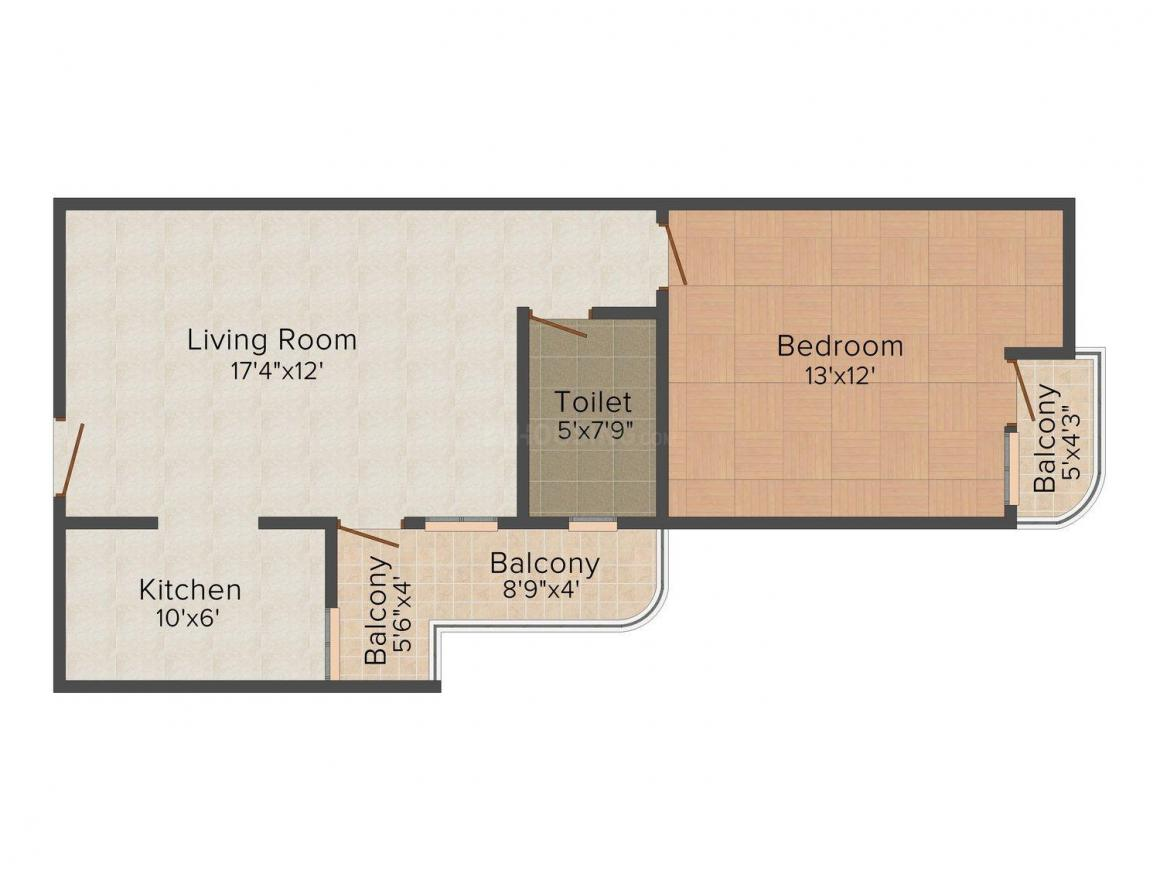 Floor Plan Image of 568.0 - 1416.0 Sq.ft 1 BHK Apartment for buy in SDC Metropolis