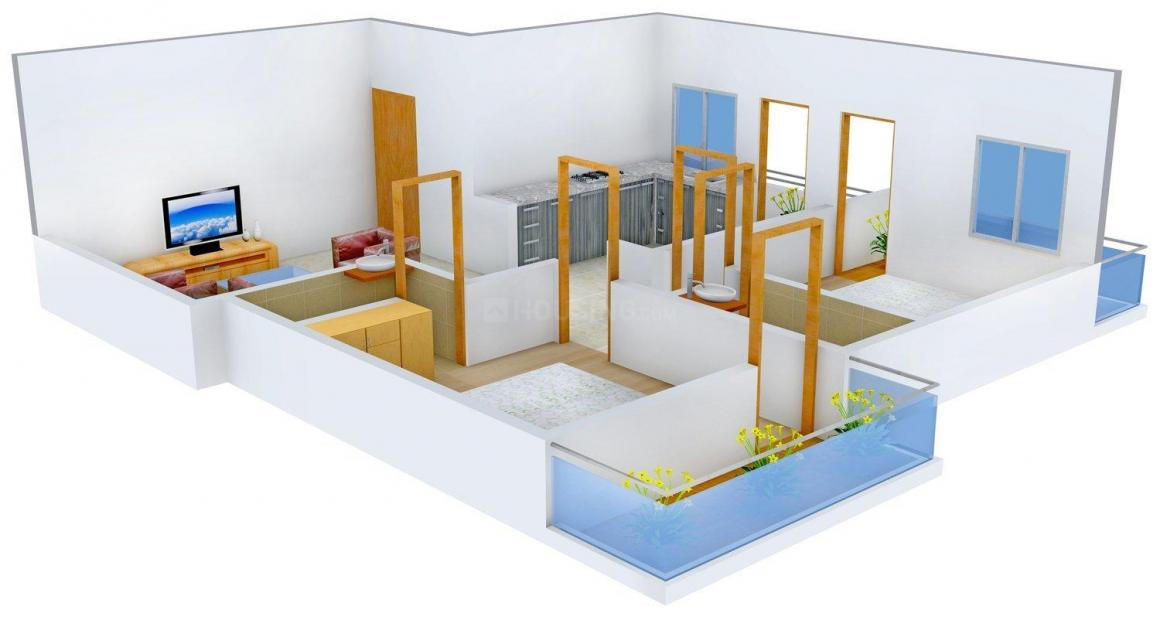 Floor Plan Image of 1000.0 - 1200.0 Sq.ft 2 BHK Apartment for buy in Narayani Sparsh III