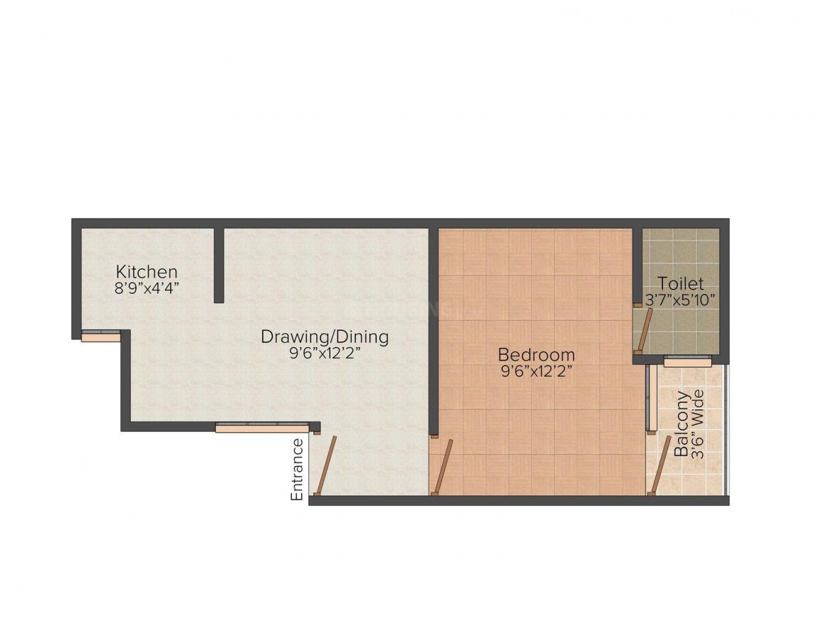 Floor Plan Image of 450 - 550 Sq.ft 1 BHK Independent Floor for buy in MG Residency - 5