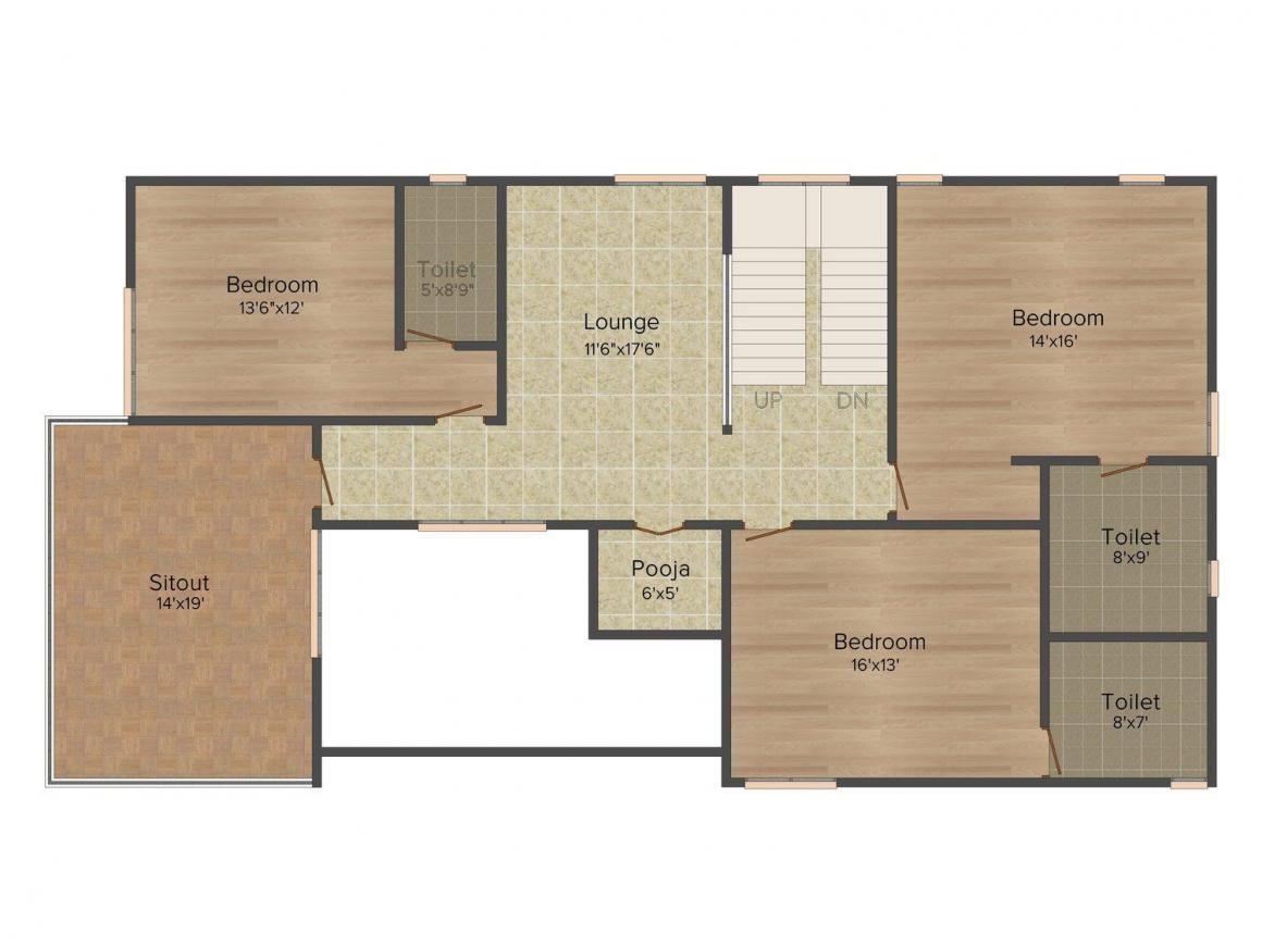 Floor Plan Image of 4139 - 4216 Sq.ft 4 BHK Villa for buy in Legend Horizon Villa
