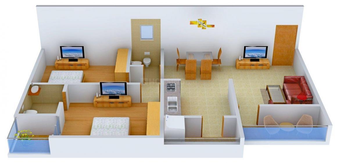 Floor Plan Image of 1360 - 1650 Sq.ft 2 BHK Apartment for buy in Aum Residency