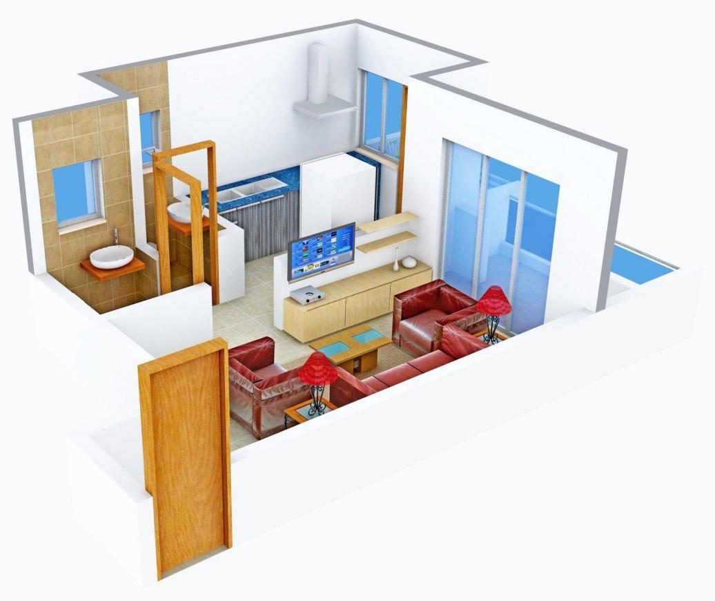 Floor Plan Image of 320.0 - 460.0 Sq.ft 1 RK Apartment for buy in Tejas Ojas
