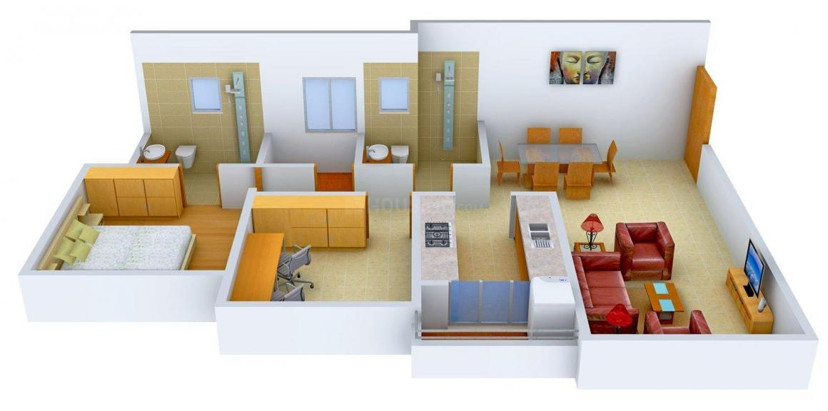 Floor Plan Image of 1145 - 1879 Sq.ft 1 BHK Apartment for buy in HDIL The Meadows