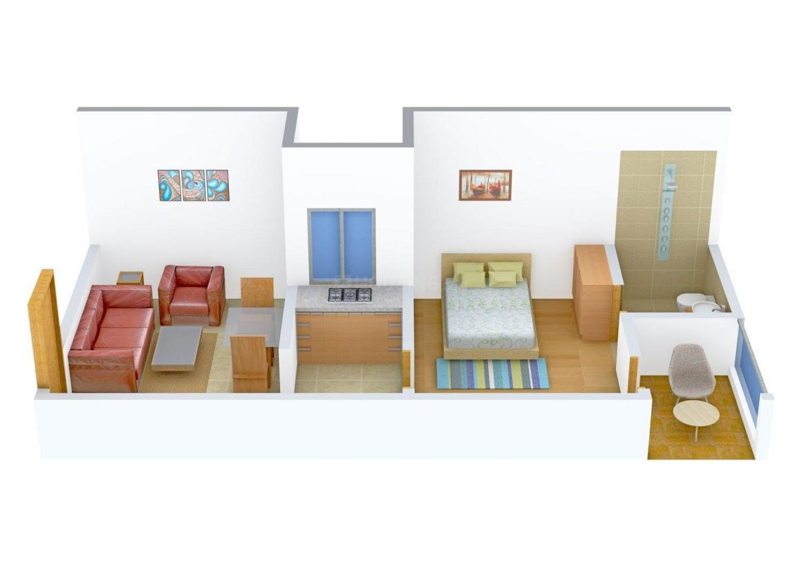 Floor Plan Image of 0 - 450 Sq.ft 1 BHK Independent Floor for buy in Real Innings Floors 4