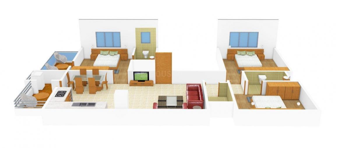 Floor Plan Image of 0 - 1560.0 Sq.ft 3 BHK Apartment for buy in Subodh Shlok Apartment-A