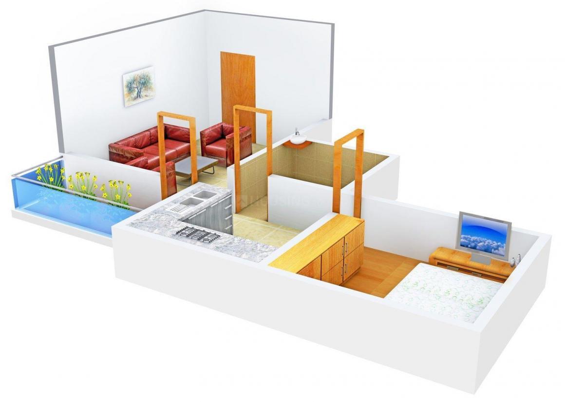 Floor Plan Image of 435.0 - 668.0 Sq.ft 1 BHK Apartment for buy in Ashok Vastu Vihar