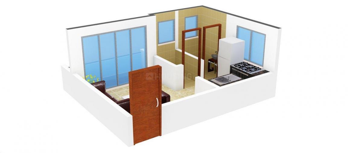 Floor Plan Image of 322 - 540 Sq.ft 1 RK Apartment for buy in Prayag Kunj