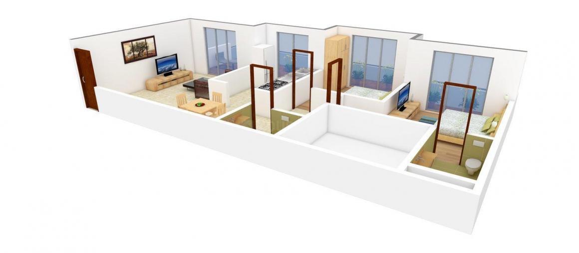 Floor Plan Image of 1200 - 1300 Sq.ft 2 BHK Apartment for buy in Juhi Residency