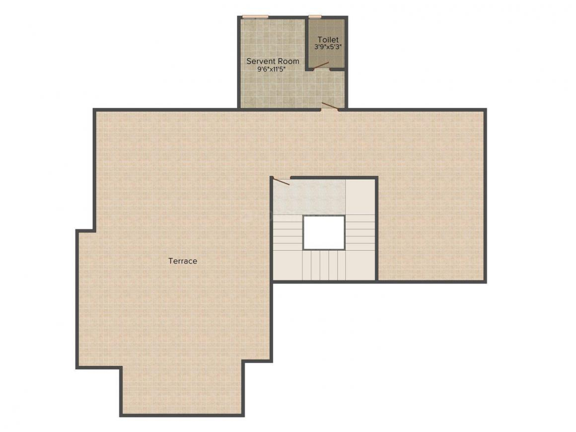 SPR Imperial Royaute Floor Plan: 4 BHK Unit with Built up area of 4124 sq.ft 1