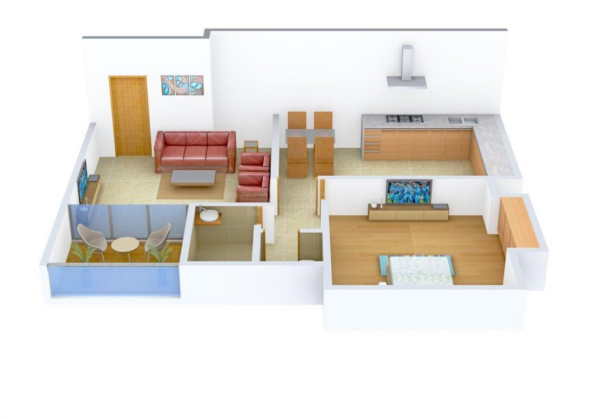 Floor Plan Image of 756 - 1350 Sq.ft 1 BHK Apartment for buy in Kanaklaxmi Treasure Park