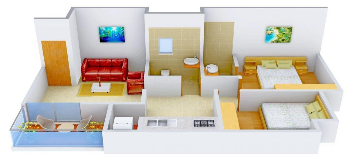 Floor Plan Image of 826 - 1318 Sq.ft 2 BHK Apartment for buy in Shree Shivram Suvarna Siddhi
