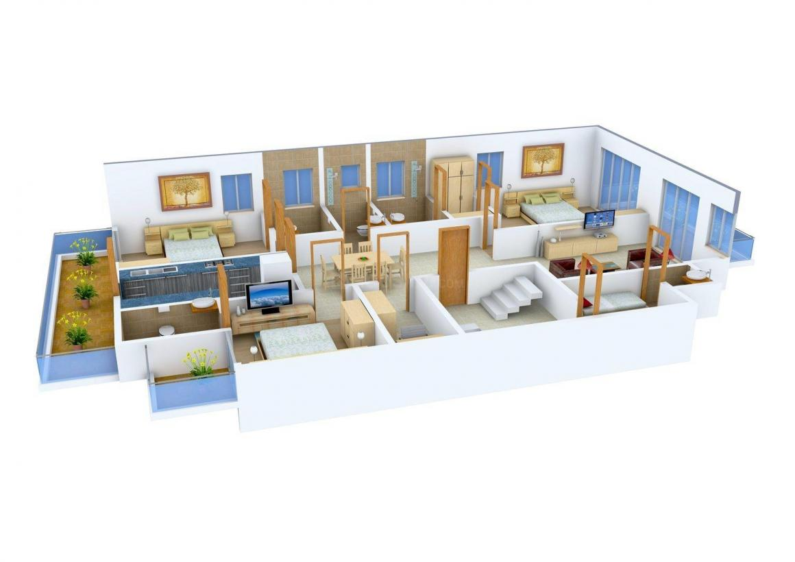 J.S.R Residency - 1 Floor Plan: 3 BHK Unit with Built up area of 2160 sq.ft 1