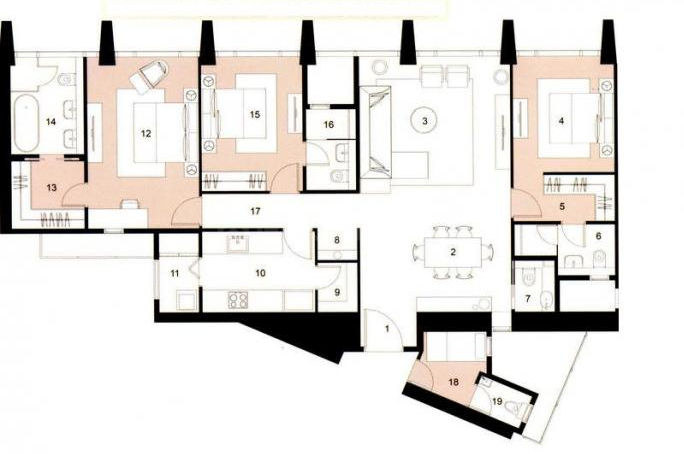 Lodha Kiara Floor Plan: 2 BHK Unit with Built up area of 1449 sq.ft 1
