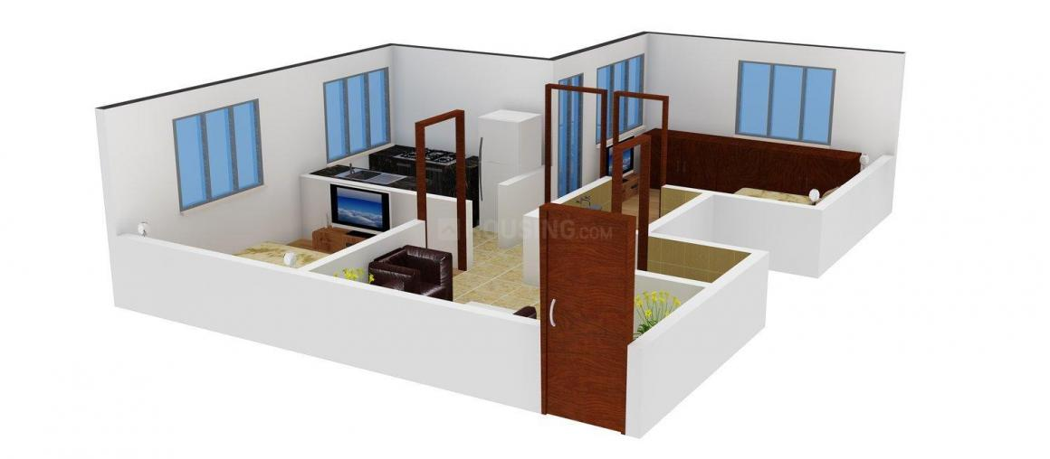 Floor Plan Image of 721 - 1368 Sq.ft 2 BHK Apartment for buy in MDC Suchana