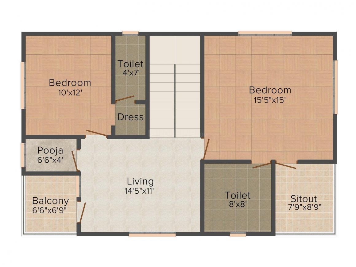 Floor Plan Image of 0 - 1890 Sq.ft 3 BHK Villa for buy in Metro Greenfield