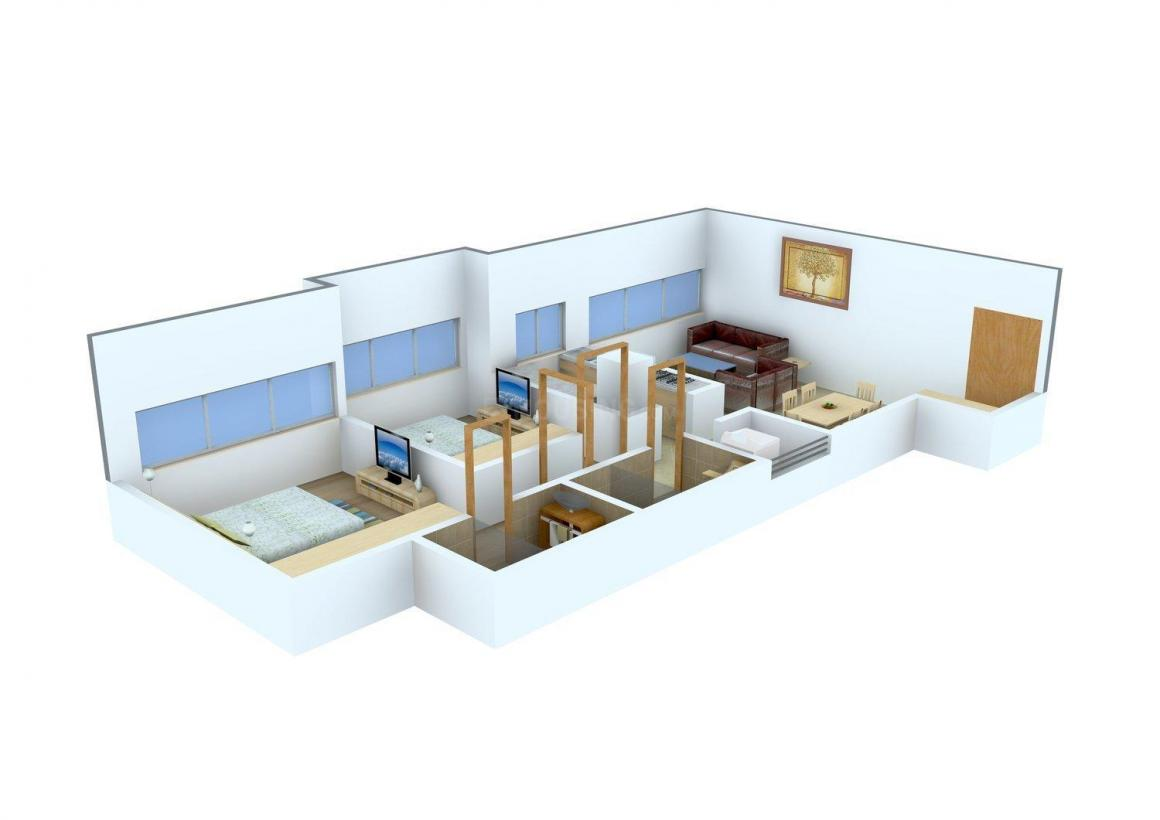 Floor Plan Image of 790 - 890 Sq.ft 2 BHK Apartment for buy in Masthan Builders Value Homes