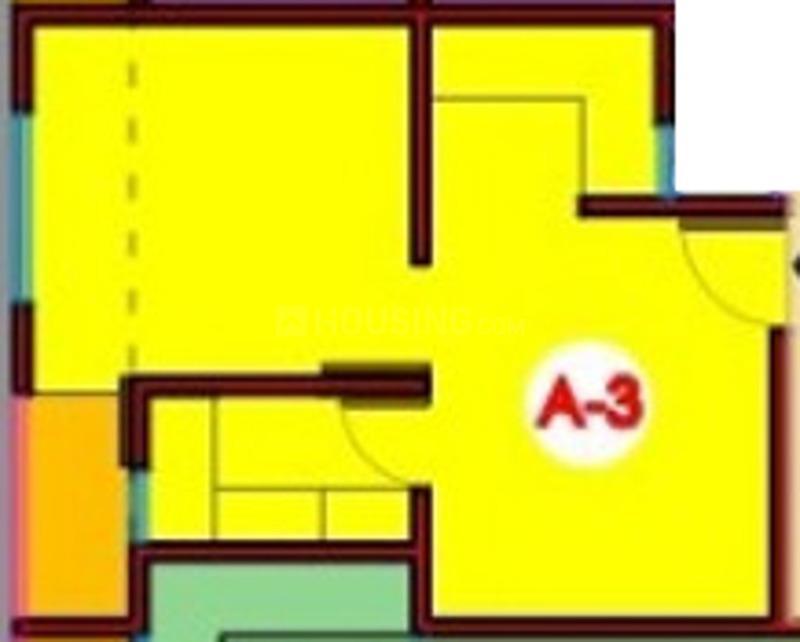 Escon Kendriye Awas And Awasiye Yojna Floor Plan: 1 BHK Unit with Built up area of 460 sq.ft 1