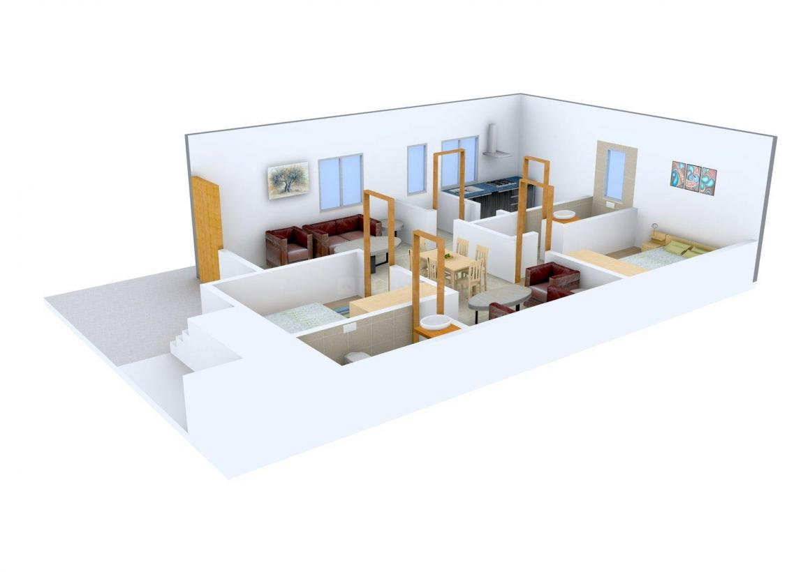 Floor Plan Image of 1045 - 1780 Sq.ft 2 BHK Villa for buy in Samatha Surya Nagar