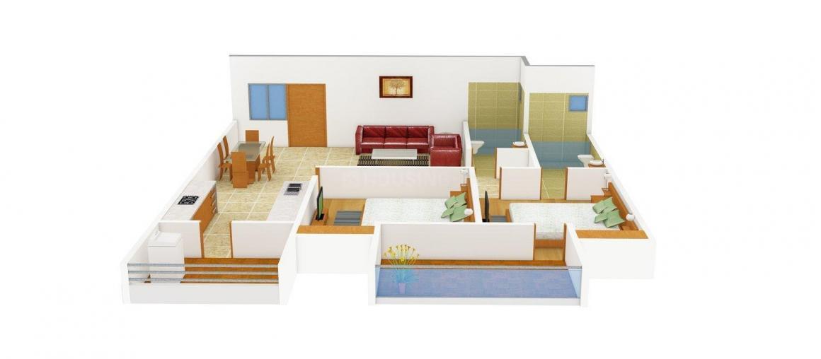 Floor Plan Image of 1035.0 - 2397.0 Sq.ft 2 BHK Apartment for buy in Aashirwad Gokul