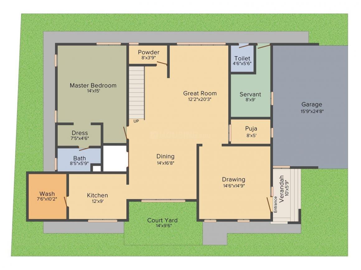 Gauthami Vivana Floor Plan: 4 BHK Unit with Built up area of 4896 sq.ft 4