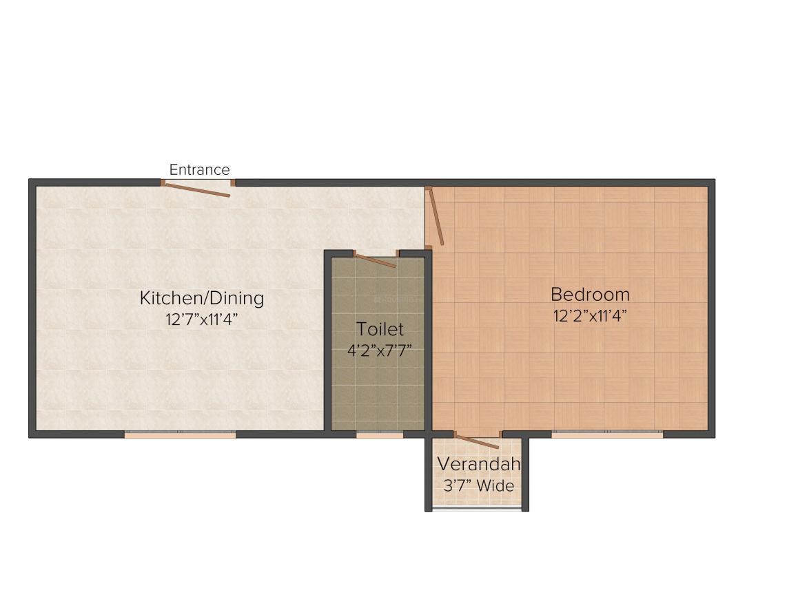 Floor Plan Image of 530.0 - 1755.0 Sq.ft Studio Studio Apartment for buy in Bhawani Sunvalley