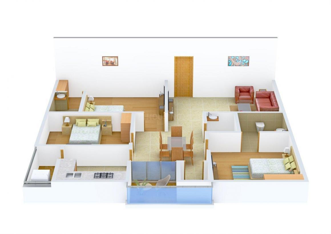Floor Plan Image of 1455 - 1490 Sq.ft 3 BHK Apartment for buy in Sri Sneha Sai Sneha Residency